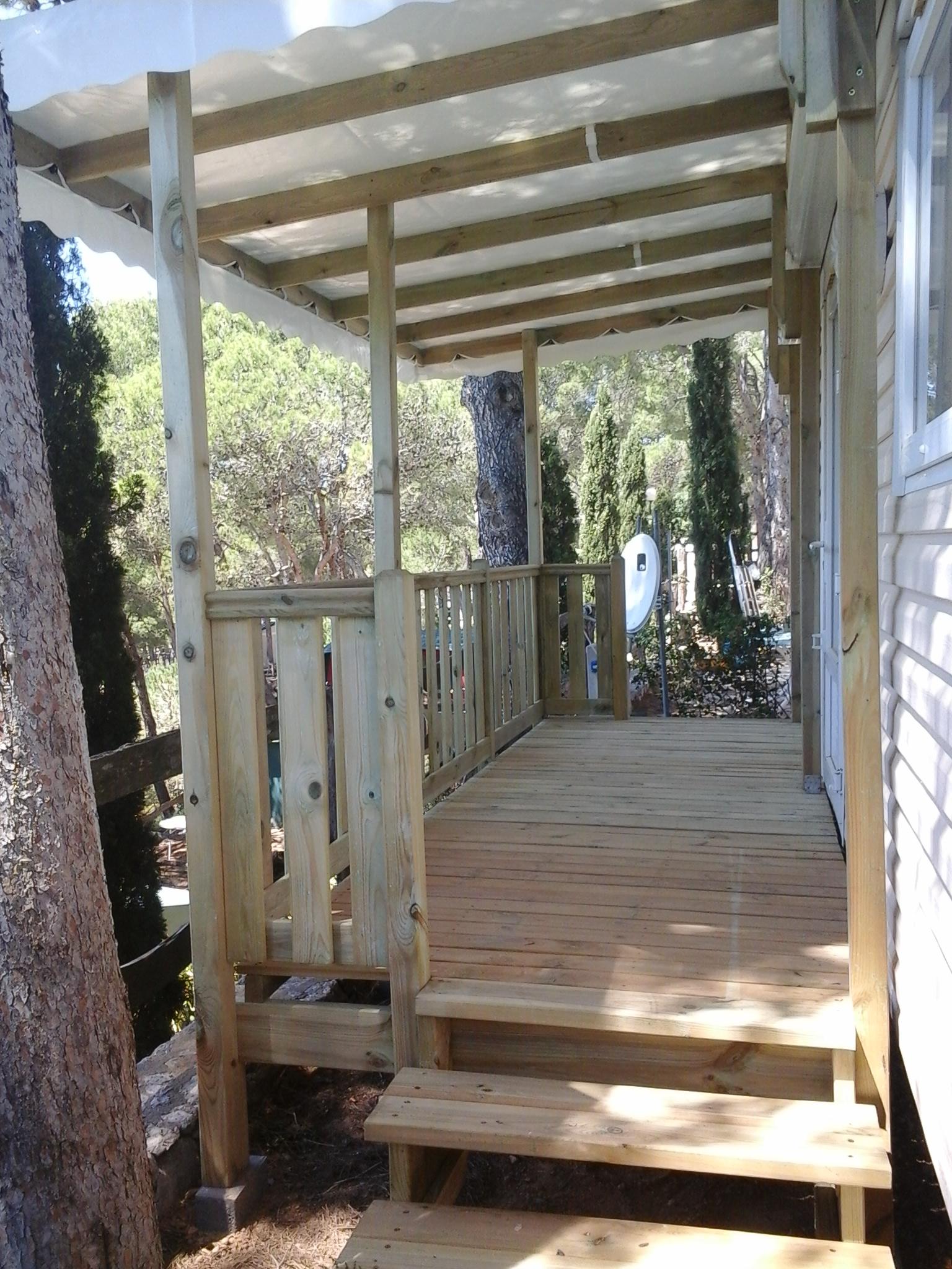 Réalisation terrasse bois mobil home Terrasses du Soleil