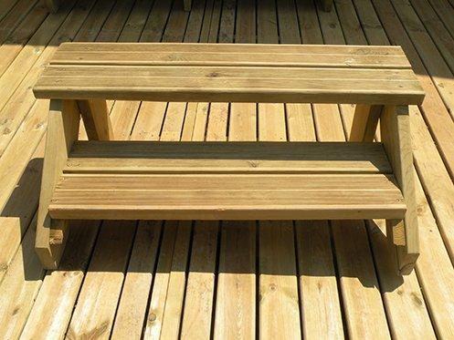 marchepieds en bois pour terrasses. Black Bedroom Furniture Sets. Home Design Ideas